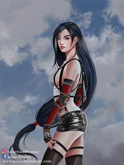 Tifa Fancy Matted and Framed Art Print