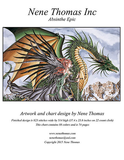 Absinthe Epic Cross-Stitch (Downloadable PDF)