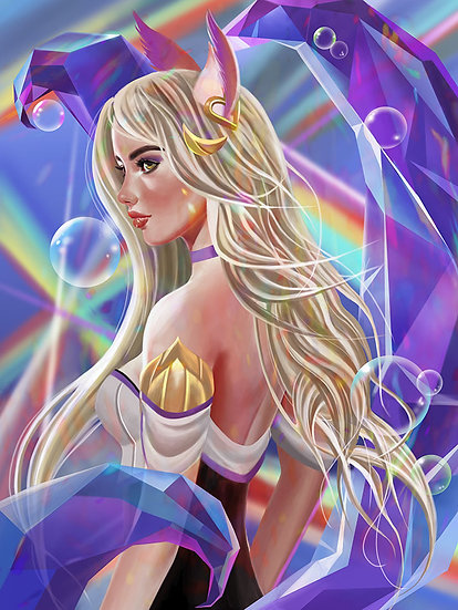 Rainbows and Bubbles Art Print