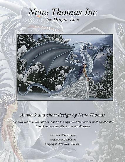Ice Dragon Epic Cross-Stitch (Downloadable PDF)