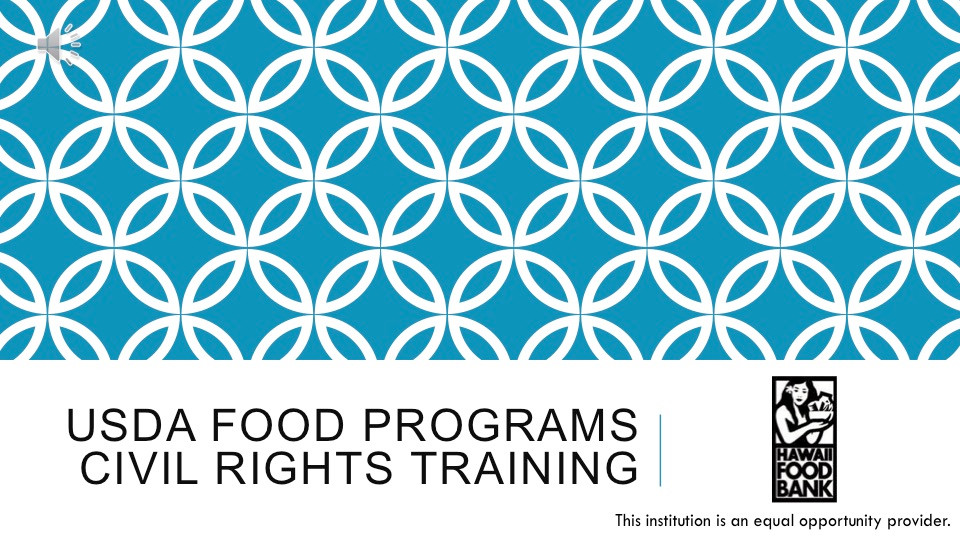 Civil Right Training for Frontline Staff