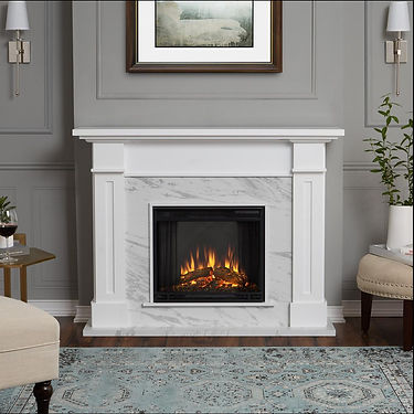 white-with-faux-marble-real-flame-freest