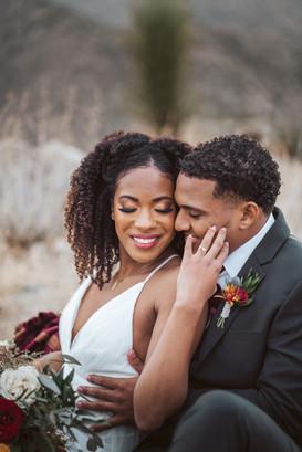 Joshua tree wedding makeup and hair