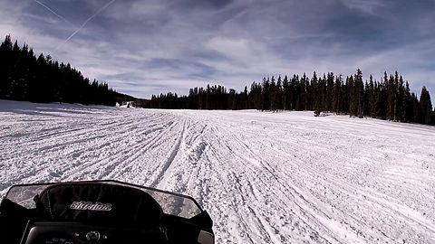 snowmobile snow fun forest tour