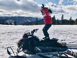 snowmobile kid girl fun