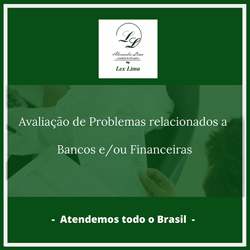 Check Up Jurídico para Problemas relacionados a Bancos
