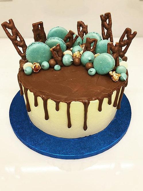 Meringues and Macarons Drip Cake