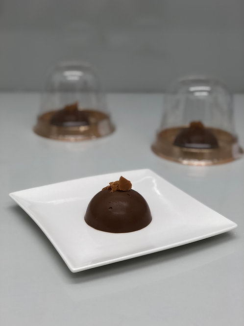 Chocolate and salted caramel entremet