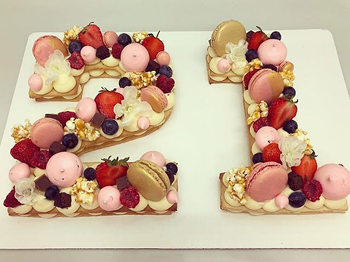 Pink and Gold Chiboust Tart