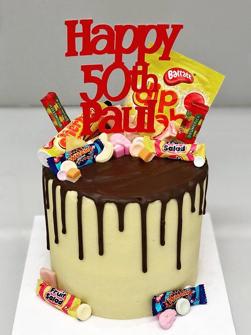 Retro Sweets Drip Cake