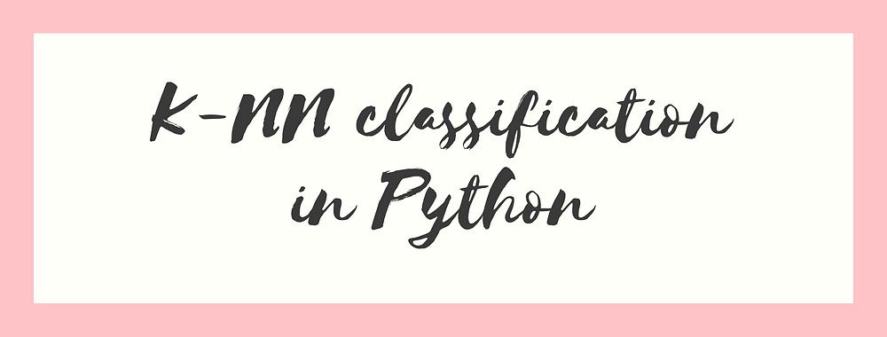 knn classification in python using scikit-learn