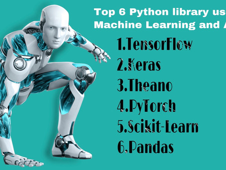 Top 6 Python libraries you should know for AI and Machine Learning.