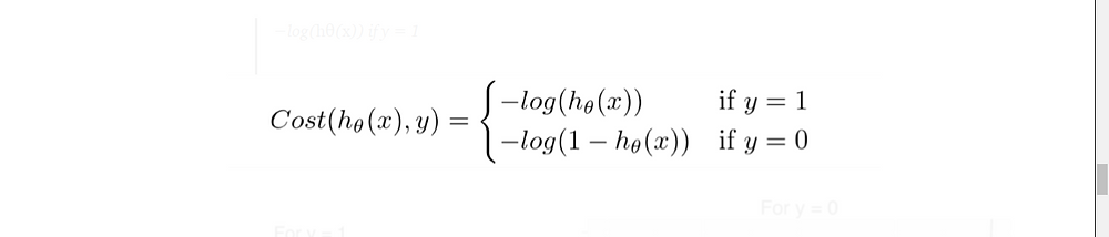 Logistic Regression Cost Function | Logistic Regression in machine Learning