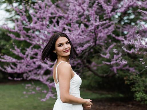 Senior Styled Blossom Shoot at the UW-Madison Arboretum
