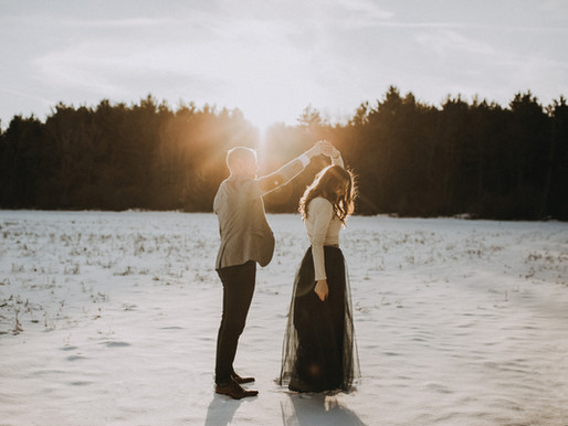 Brandon + Lydia | Engagement | In the Pines