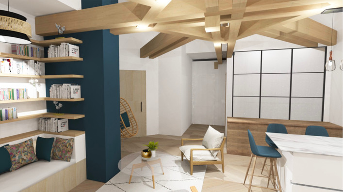 3D salon Bibliothèque