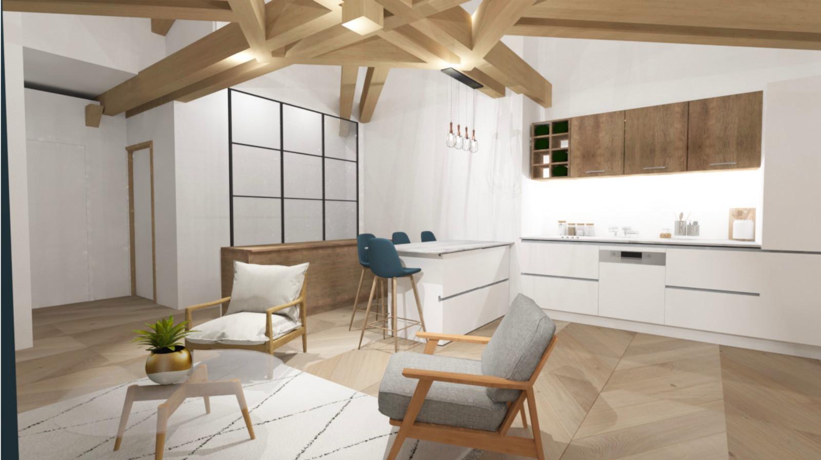 3D cuisine et salon