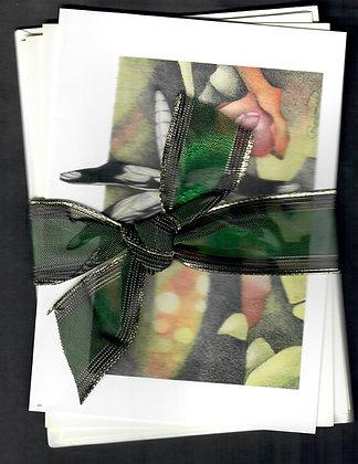 Ribboned Gift Set-4 of the same Dragonflies-4 cards & envelopes