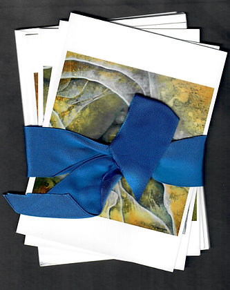 Ribboned Gift Set-Stone & Water Collection-4 cards & envelopes
