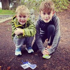 Lake Oswego Community Treasure Hunt Clue #53  Found by Leo & Archie Reynolds  Millennium Park
