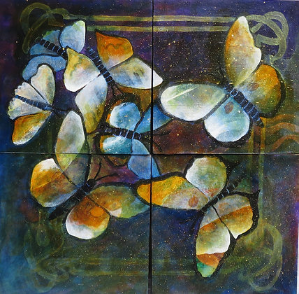 Butterfly-Quadriptych