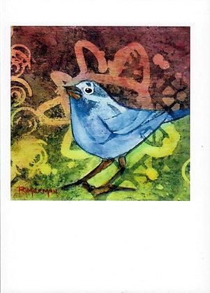 Mountain Blue Bird-card &  envelope