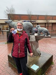 Lake Oswego Community Treasure Hunt Clue #54 Found by James Baskin Ornament #54 Polar Bear Journey
