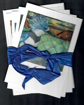 Ribboned Gift Set-NW Birds-4 cards & envelopes