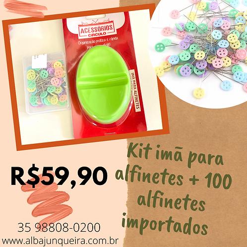 Kit de ímã de alfinetes + 100 alfinetes importados