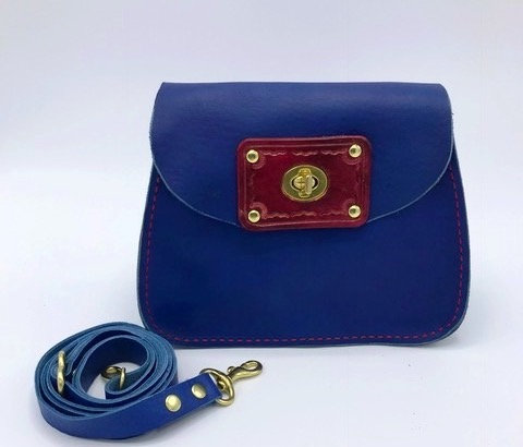 Madison Handbag | Blue & Red