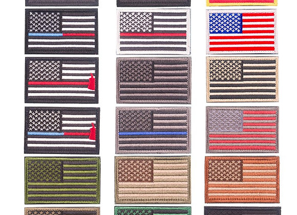 Embroidery American Flag Military Tactic Patch Ironing on or Sewing
