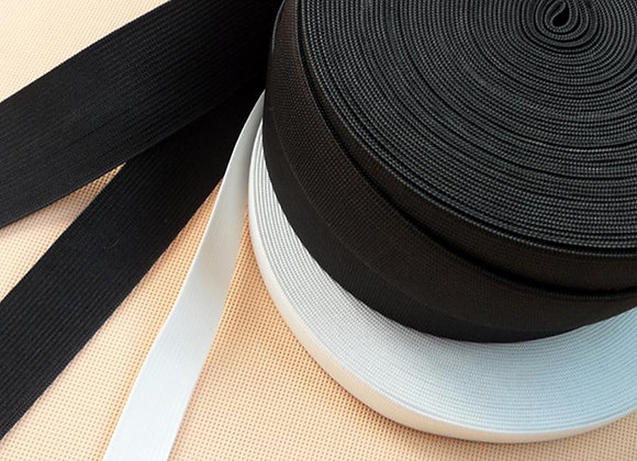 "High Quality 22 yards,  1/4""(6mm) Elastic, white or black"