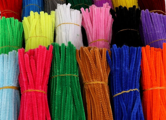 100pcs 30cm Chenille Stems Pipe Cleaners