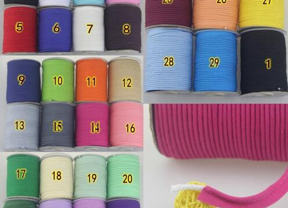 "Cotton Bias,Piping Tape With Cord, Size:1/2""x 50yds various Color"
