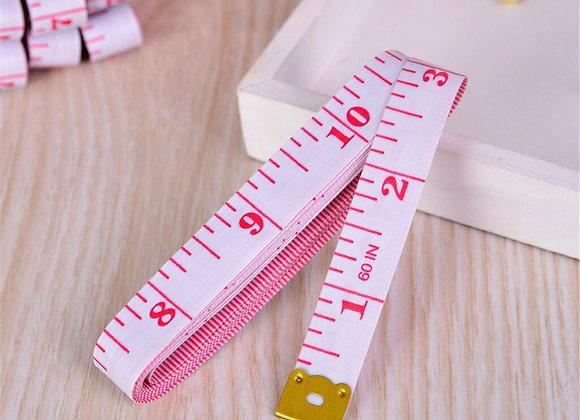 Pink CM and Inch Plastic Tape measure
