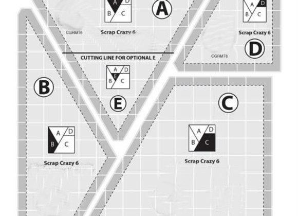 Creative Grids Scrap Crazy 6 Ruler
