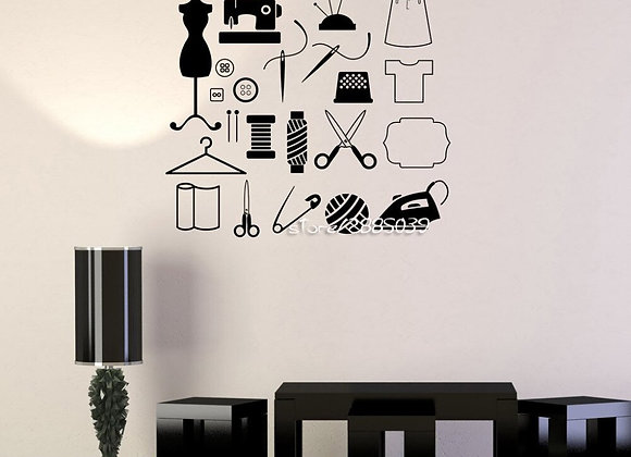 Sewing Wall Decals Removable High Quality