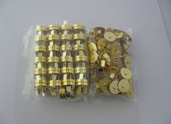30 Sets/18mm Gold Tone Magnetic Snaps, For Bag Purse