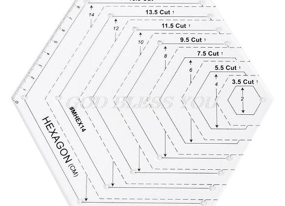 Hexagon Quilting Ruler
