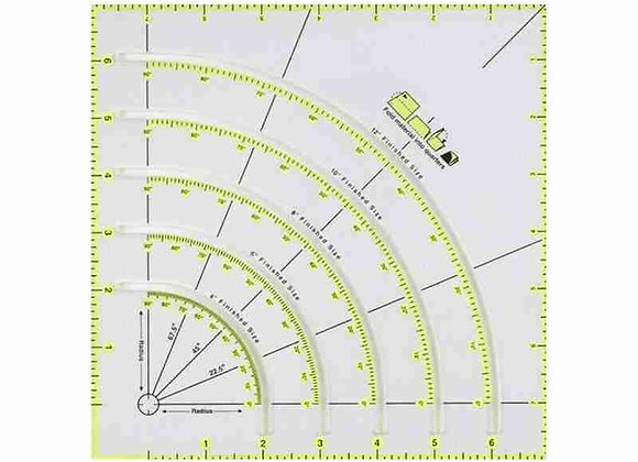 Acrylic Quilters Ruler With Double Colored Lines for Easy Cutting