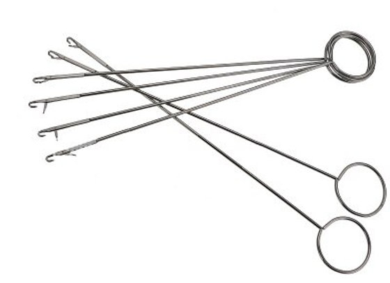 Stainless Steel Sewing Loop Turner Hook with Latch