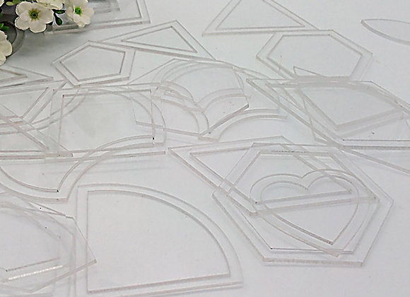54PCS Mixed Quilt Templates Acrylic Diy Tools for Quilting