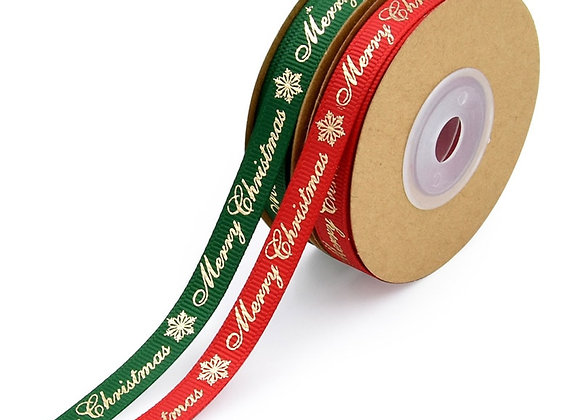 (25 Yards*3/8 inch wide Grosgrain Christmas Ribbon ,Decoration, Gift Wrapping