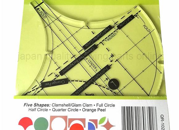 Cut Five Shapes Clamshell /Glamclam/Full Circle Half Circle