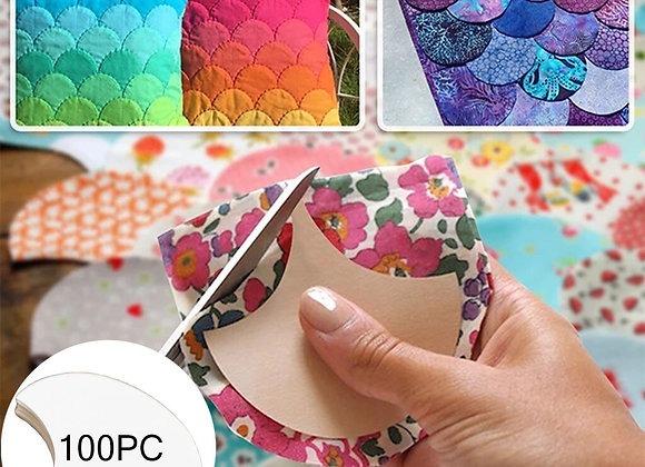 100 Pieces Clam Shell  Shape Paper Quilting Templates for Sewing