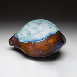 cowrie, cowrie shell, shell, ocean, shore, sculpture, wall art, seashore, new england, marine sculpture, large sculpture, betsey rice, quonochontaug, rhode island artists, Glazed Stoneware