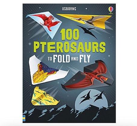 ערכת הכנת 100 קיפולי נייר מטוסי דינוזאורים