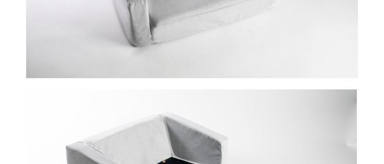 ספה נפתחת לילדים אפור שחור