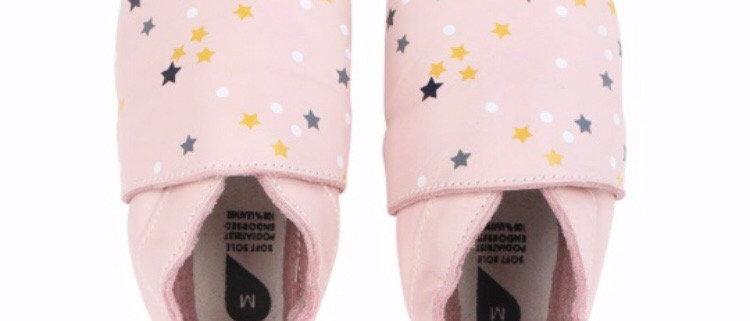 נעלי טרום הליכה ורוד בייבי כוכבים