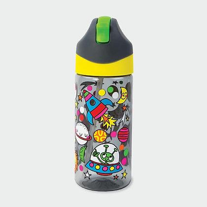 בקבוק חלל +קש סיליקון גמיש